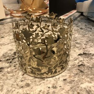 Bath & Body Works Silver Decorative Candle Holder